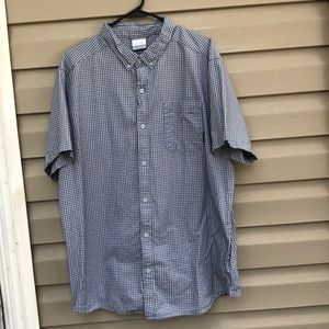 Columbia men's checked button down shirt